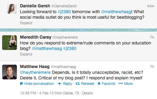 Talking Beat Blogging With Matthew Haag