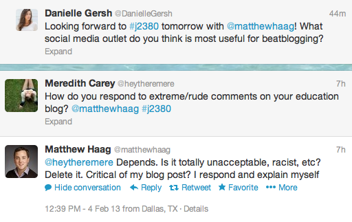 Talking Beat Blogging With Matthew Haag